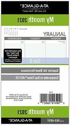 """AT-A-GLANCE Monthly Planner Refill, Size 3, 3-3/4"""" x 6-3/4"""","""