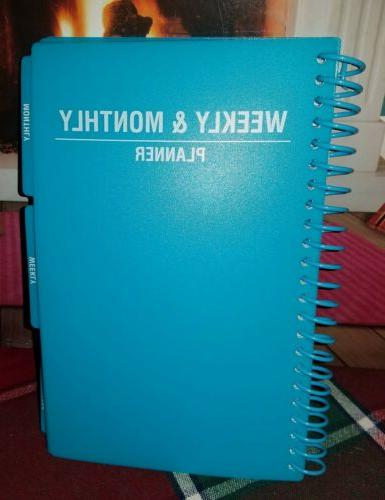 blue 2020 year daily and monthly planner