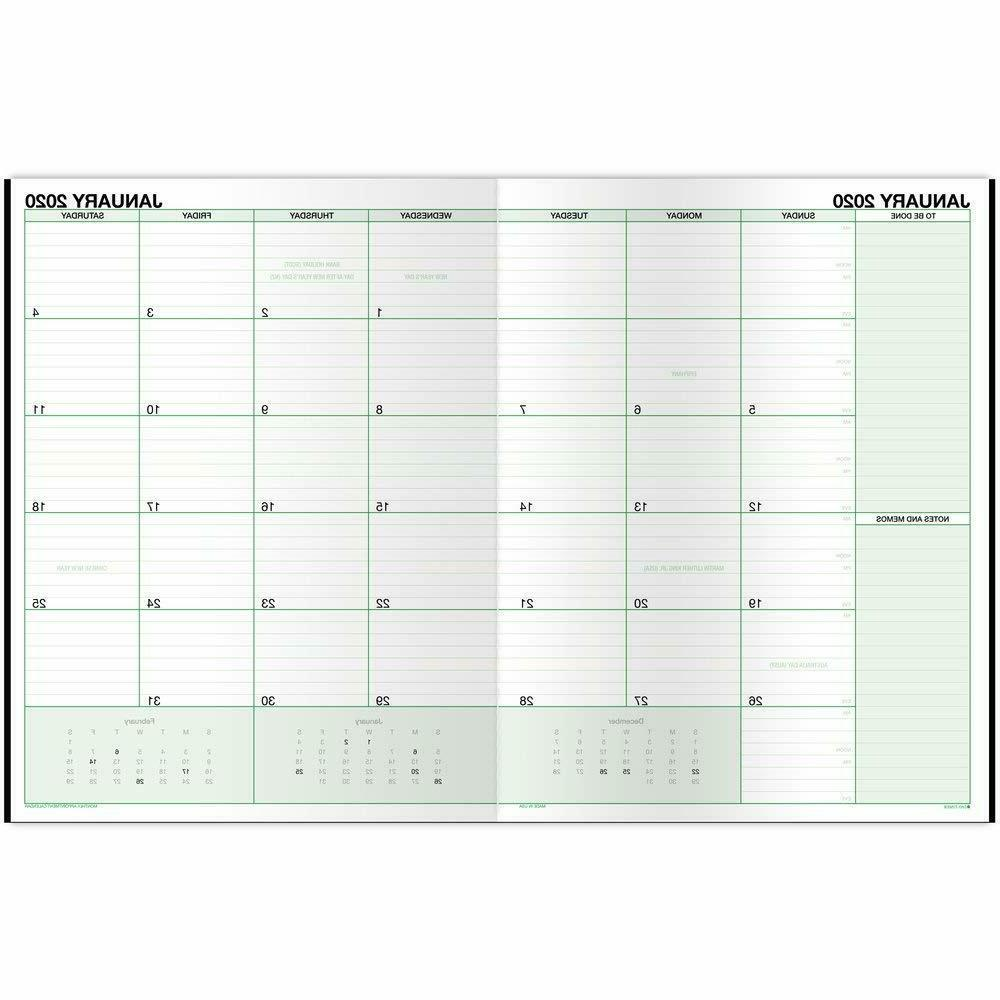 "Day-Timer 2020 Monthly Planner, 8-1/2"" 11"", Large, Black"