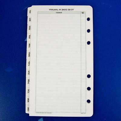 daytimer portable month tabs refill pages 6