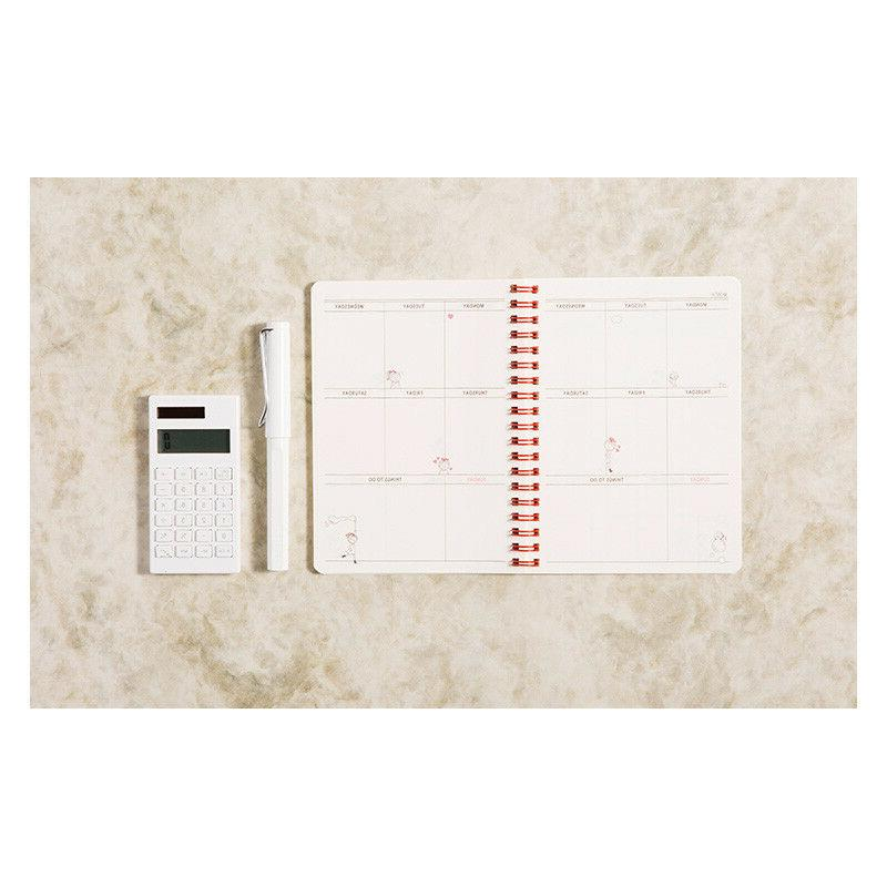 Girl Cat Monthly Weekly Planner Scheduler Diary + Note 1pc : 2