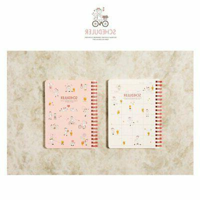 girl with a cat monthly weekly planner