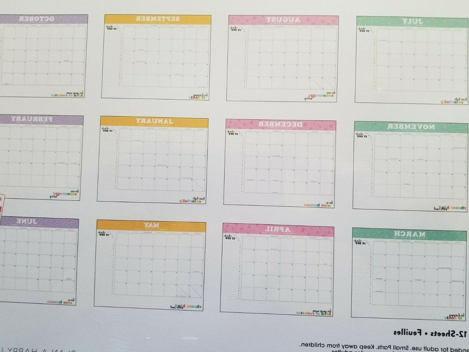 Happy Planner® ~ Monthly Wall Pad July 2020 -