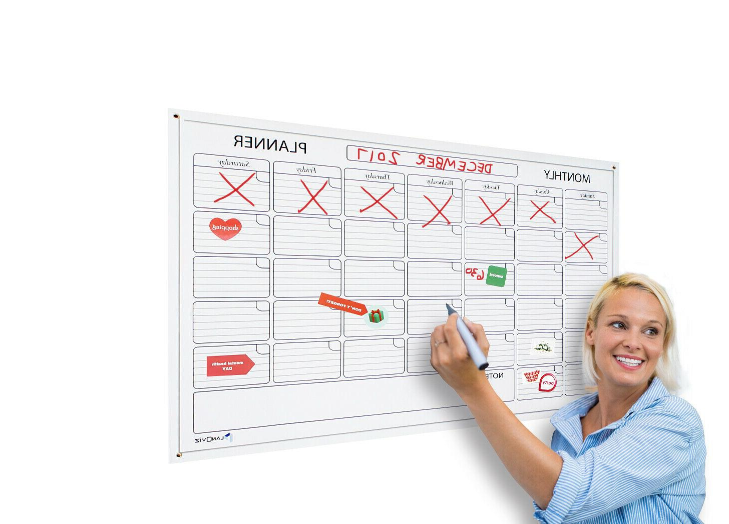 IbexStationers 36 X 48 Whiteboard Monthly Planner