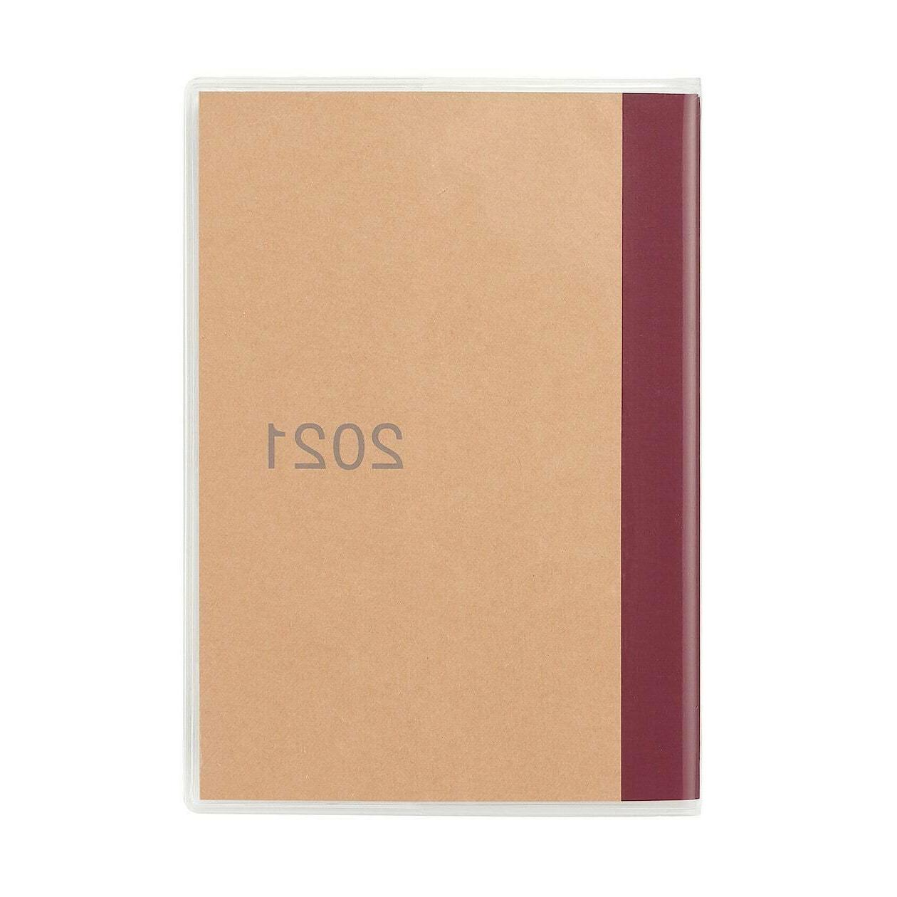 MUJI japan 2021 A6 size monthly schedule planner note book S