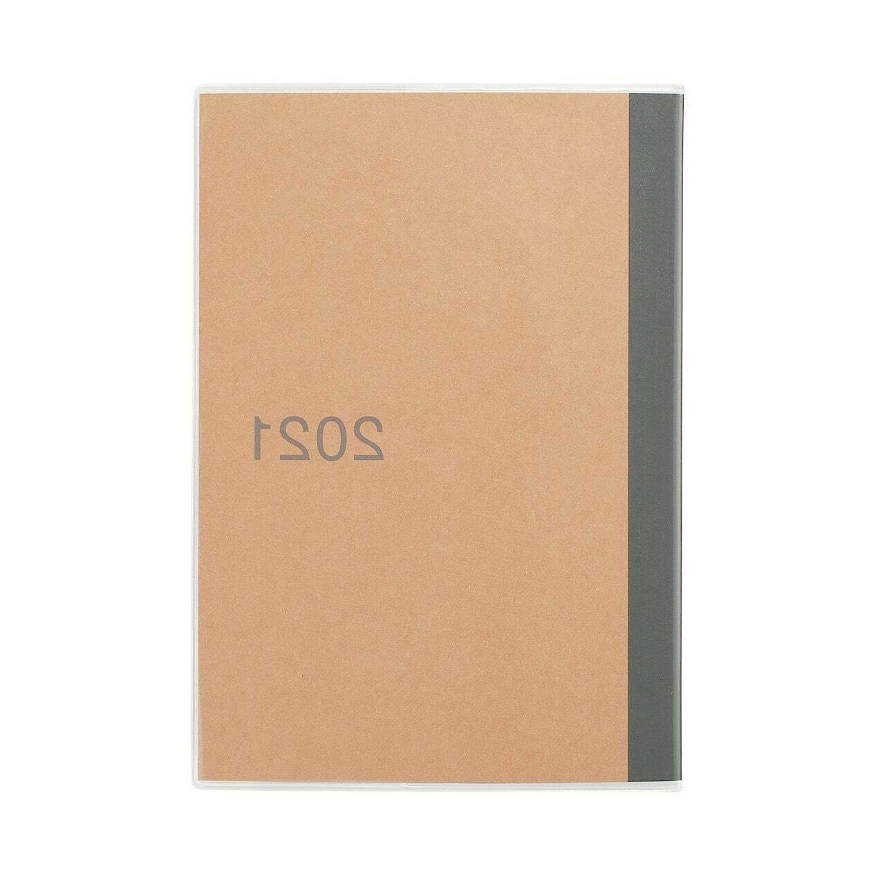 MUJI japan 2021 A6 size monthly schedule planner book craft
