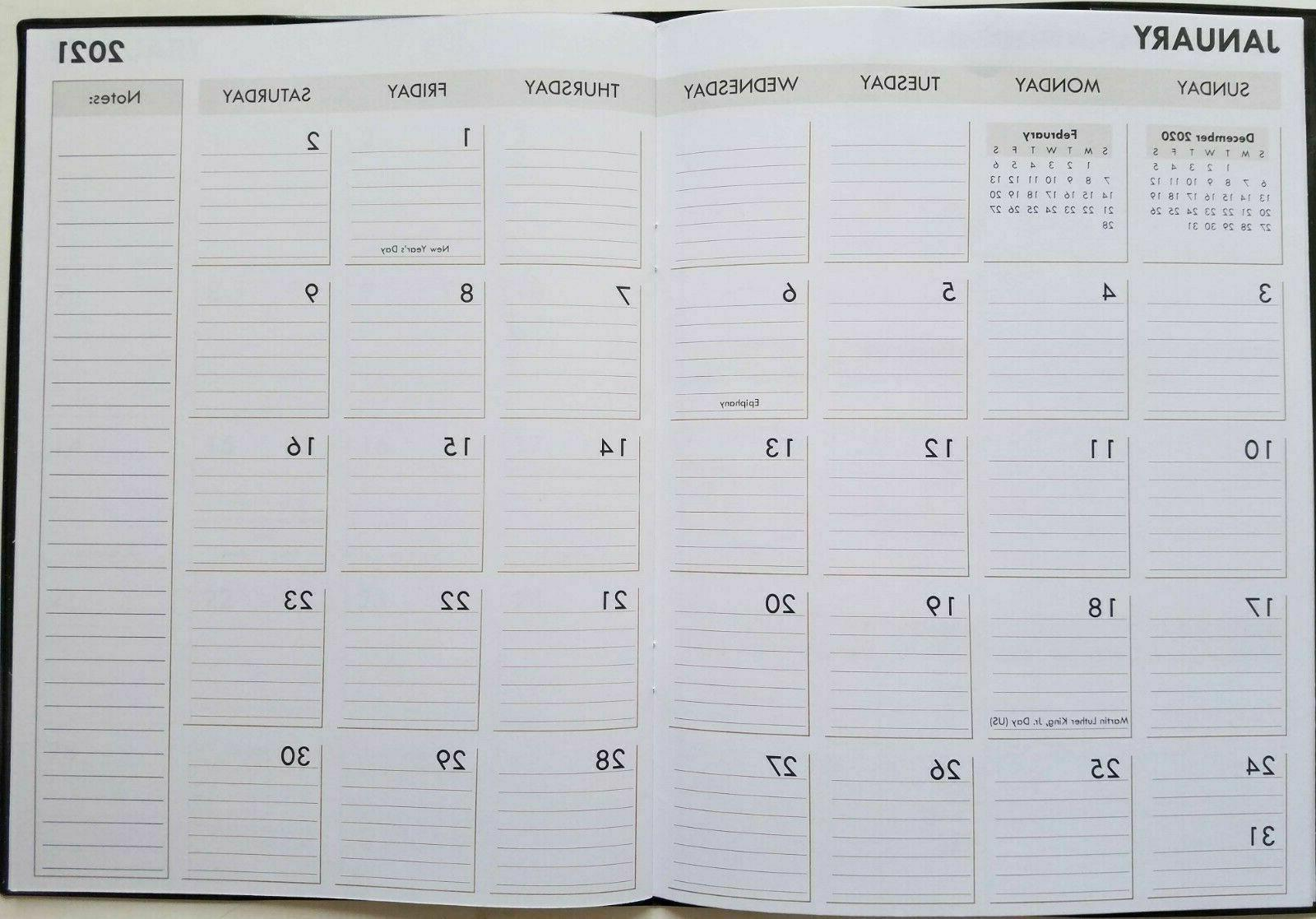 2021 Monthly Appointment Calendar Select