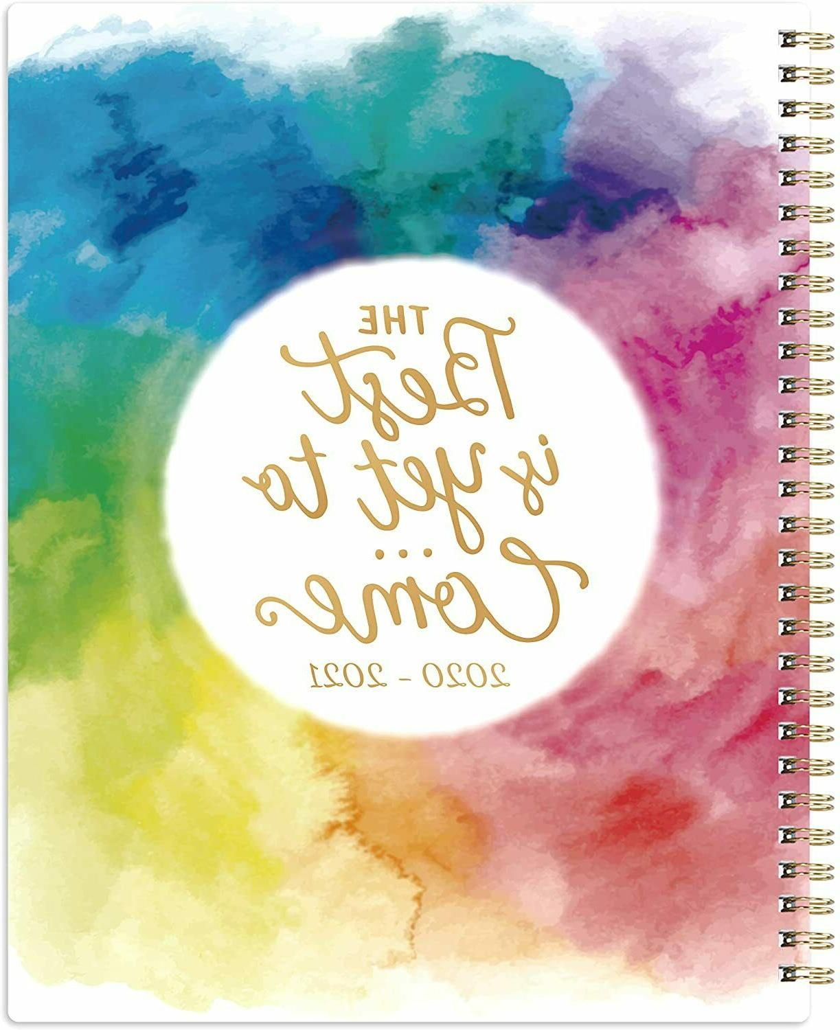 July 2020 - June 2021 Academic Weekly & Monthly Planner Larg