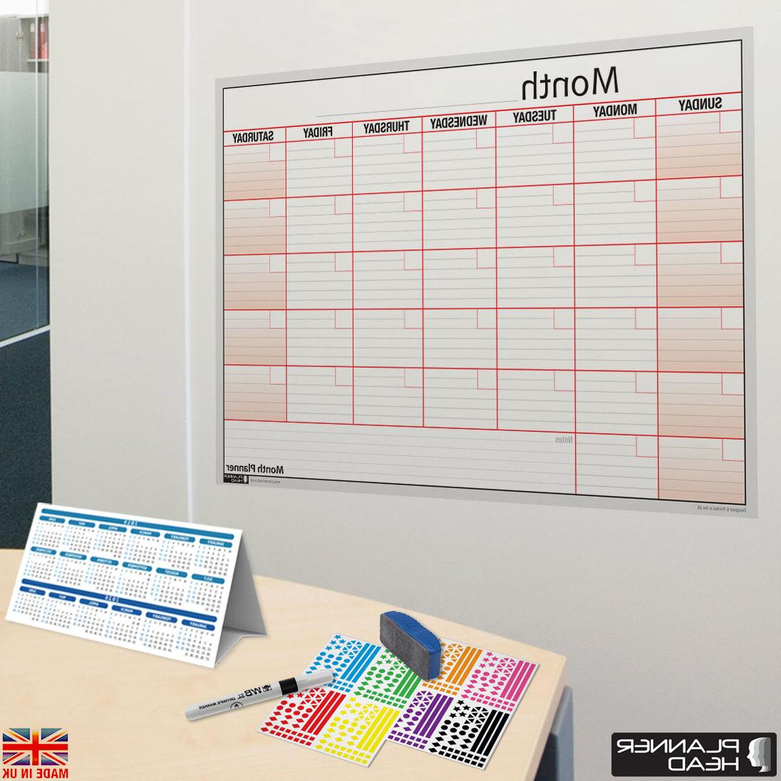 laminated monthly planner wall chart month planner
