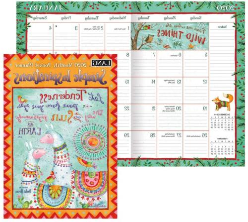 lang simple inspirations 2020 monthly pocket planner