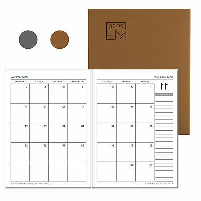 monthly work notepad planner diary agenda memo