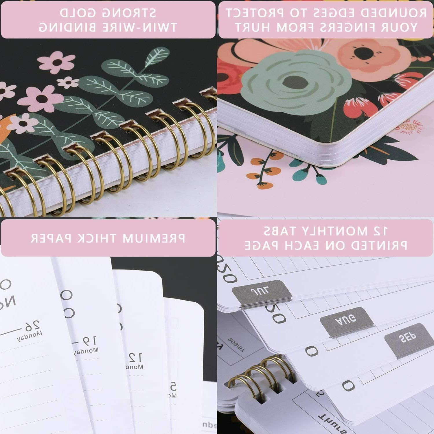 """NEW Academic Weekly & Monthly 10"""" Floral"""