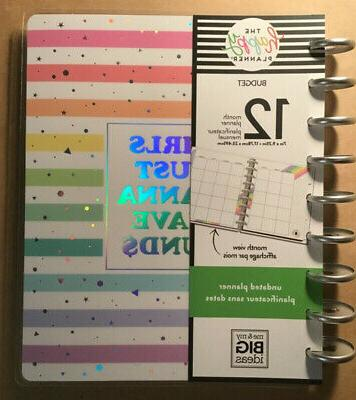 new the happy planner undated classic budget