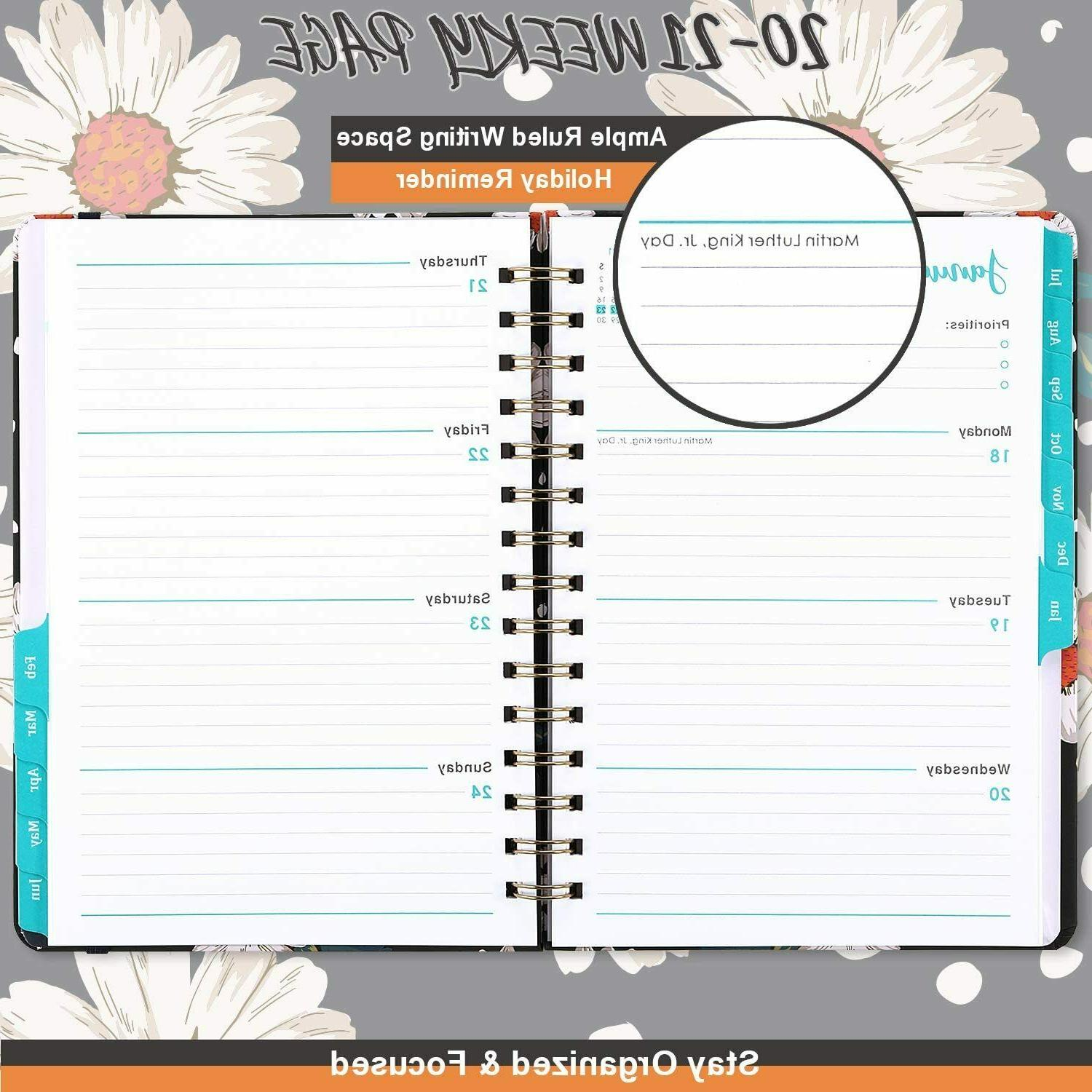 Planner 2020-2021 Weekly & Monthly Pages,