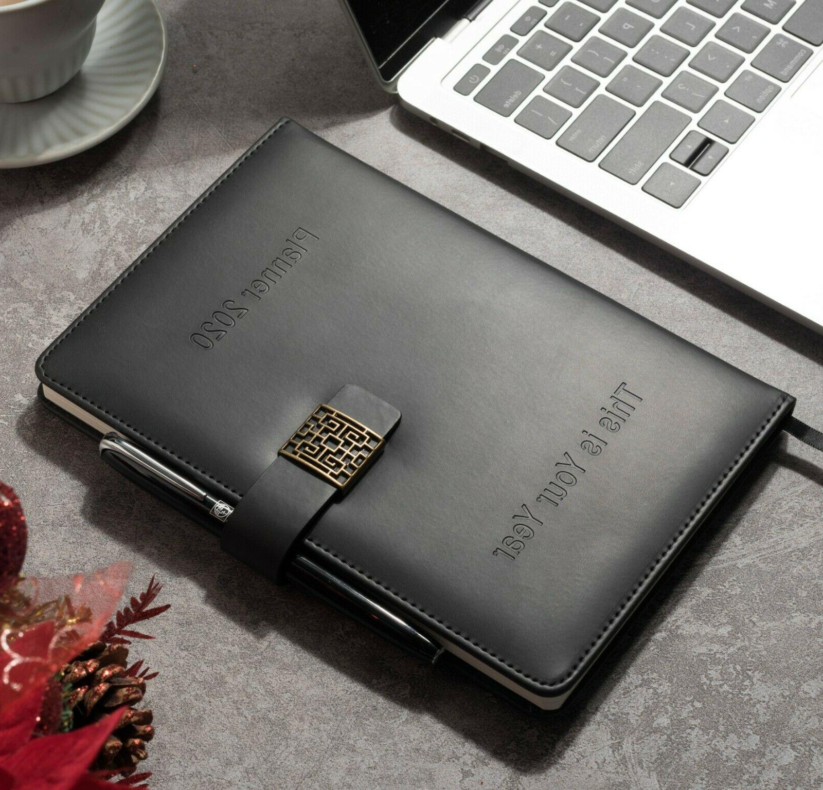 Premium Planner Monthly Leather Diary