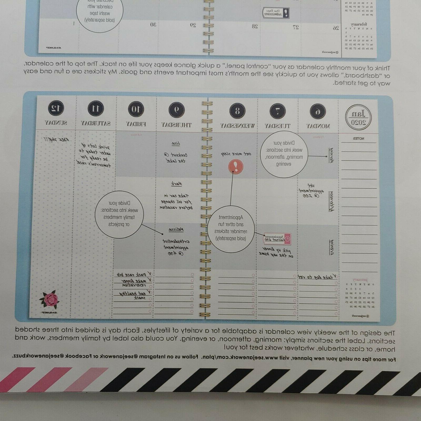"""See Jane Planner 2020 Gold Weekly/Monthly Planner x 11"""""""