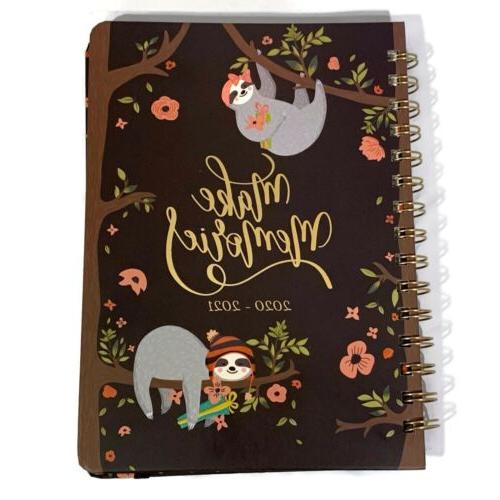 sloth academic weekly and monthly planner