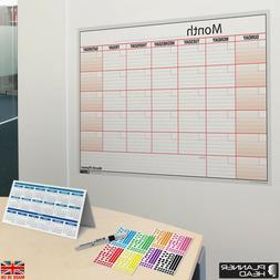 LAMINATED Month Planner Wall Chart Monthly Planner ✔Use An