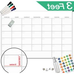 Large Dry Erase Board Calendar Monthly Organizer Home Office