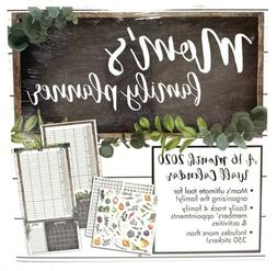 """MOM'S FAMILY PLANNER 12"""" x 24"""" 16 Month 2020 Wall Calendar"""