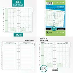 Monthly Classic Refill, 6 3/4 X 3 3/4, White/Green, 2020