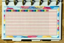 Monthly Habit Tracker Dashboard Insert for use with MINI Hap