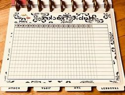 monthly habit tracker dashboard insert for use