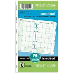 """Monthly Planner Refill 2020 3-3/4""""X6-3/4"""" Two Pages Per Mont"""