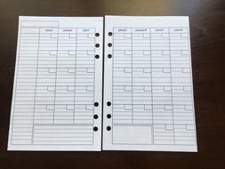 MONTHLY Undated Refill for A5 6-Ring Planner Organizer Inser