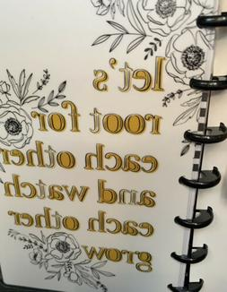 "NEW! the Happy Planner ""FLORAL LINE ART"" MINI Planner MO"