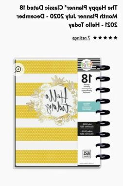 """NEW: The Happy Planner """"Hello Today"""" Classic 18 Month Vertic"""