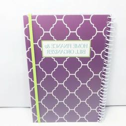 Purple Home Finance And Bill Organizer Monthly Folder Pocket