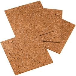 "Quartet Cork Tiles, Cork Board, 12"" x 12"", Corkboard, Wall B"