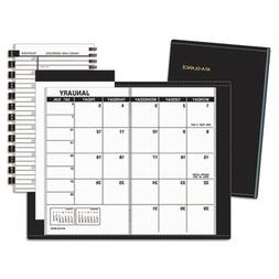 AT-A-GLANCE Recycled Monthly Planner, 3 x 6 Inches, Black, 2