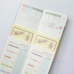 Regular Size Inserts for Midori Travelers Notebook Weekly Mo