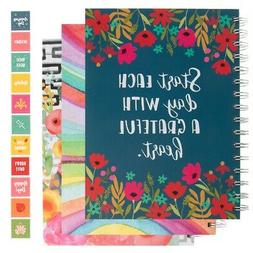 spiral notebook monthly daily weekly undated calendar