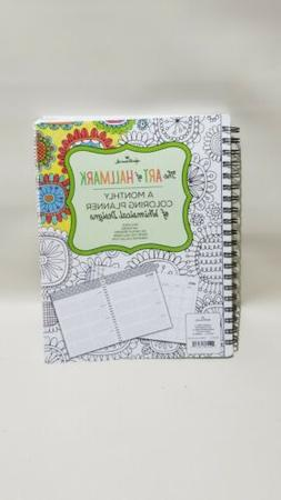 HALLMARK The Art of Hallmark A Monthly Coloring Planner of G
