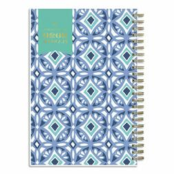 Day Designer Tile Weekly/Monthly Planner, 8 X 5, Blue/White
