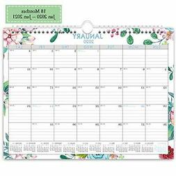 Wall Calendar Day Designer 2020-2021,Monthly and Yearly Runn