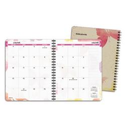 Day Runner Watercolors Recycled Monthly Planner, 6 x 9 Inche