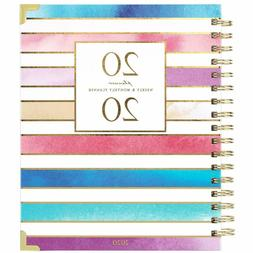 Weekly & Monthly Planner 2020, Thick Paper with Colorful Tab