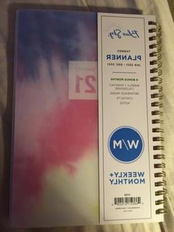 """Blue Sky Weekly/Monthly Planner, 5"""" x 8"""", Pages 2021 Vinyl C"""