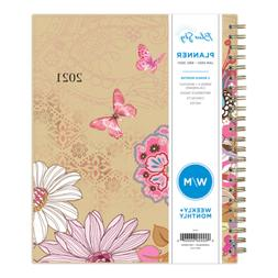 """Blue Sky Weekly/Monthly Planner, 7"""" x 9"""", Lianne Pink, 2021,"""