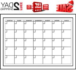 WallPops WPE94575 White Board Dry-Erase Monthly Calendar
