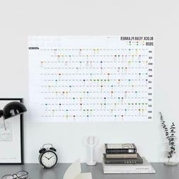 Year Planner 2020 Block Daily Planing Paper Creative Wall Ca